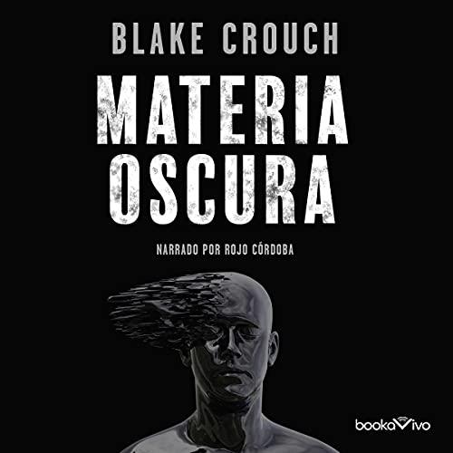 Diseño de la portada del título Materia oscura