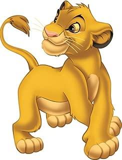 5 Inch Simba Cub Disney The Lion King Movie Animal Removable Peel Self Stick Adhesive Vinyl Decorative Wall Decal Sticker Art Kids Room Home Decor Girl Boy Children Bedroom 4 x 5 1/4 inch Tall