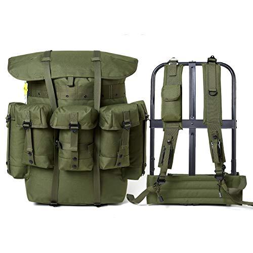Mochila militar Alice Pack Army Survival Combat Field Mochila con marco Oliva Drab - MilitaryAlice5, Alice Pack OD, Olive Drab