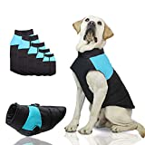 SunteeLong Dog Jackets Dog Clod Weather Coat Waterproof Windproof Warm Dog Vest Cold Weather Pet Apparel for Small Medium Large Dogs