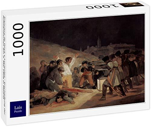 Lais Puzzle Francisco de Goya y Lucientes - riprese degli insorti Il 3 Maggio 1808 a Madrid 1000 Pezzi