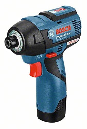 Bosch GDR 12V-110 Professional - Atornillador de impacto a batería, 2 baterías 2.5 Ah, cargador rápido, L-BOXX (12 V, par de giro máx 110 Nm, diámetro de broca M 4 - M 12)
