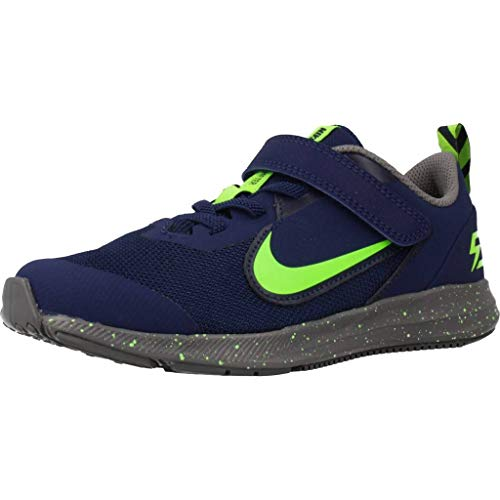 Nike Downshifter 9 Rw Walking-Schuh, Blue Void/Electric Green-GUNSM, 32 EU