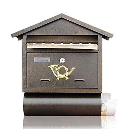 Dongyd Villa Mailbox Outdoor Waterdichte IJzeren Muur Hangende Brievenbus De onderkant van de doos met haspel