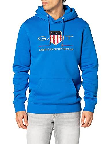 GANT Archive Shield Hoodie Sudadera con Capucha, Azul náutico, XL para Hombre