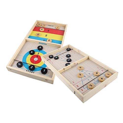 Elibeauty Rápido juego de disco de cabestrillo - 1 juego de mesa de madera rápido juego de disco de cabestrillo juguete de interacción para padres e hijos