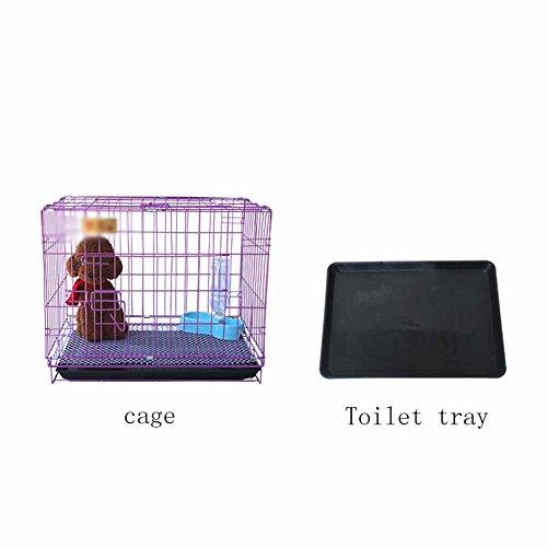 XCLLL - Jaula de Conejo para Mascotas con Inodoro Interior, Acero Inoxidable, Material galvanizado Fácil de Limpiar, Morado, A