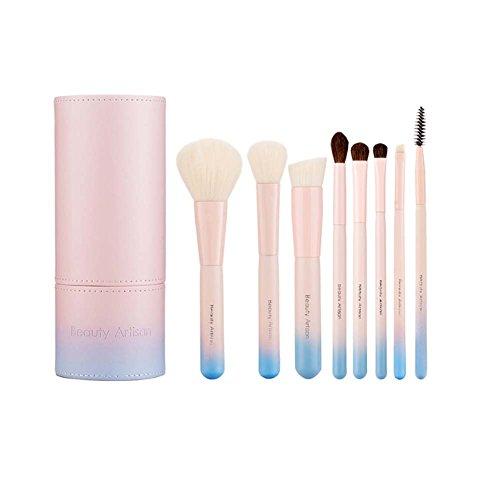 Brosse de maquillage de maquillage de 8 pièces Set professionnel de brosse avec le cas de support