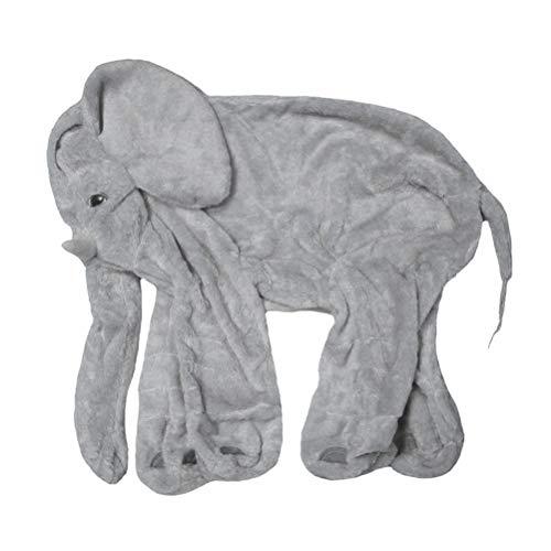 Kein füllendes Elefant Plüschtier Elefant Kuscheltier Puppe Baby Schlafen Weiche Komfort Kissen Kindersofa Matte(grau/40CM)