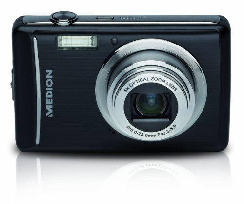 Medion Life P43005 Digitalkamera (14 Megapixel, 5-Fach Opt. Zoom, 6,9 cm (2,7 Zoll) Display, bildstabilisiert) schwarz