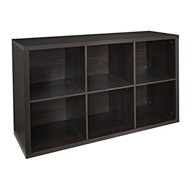 ClosetMaid 4109 Decorative 6-Cube Storage Organizer, Black Walnut