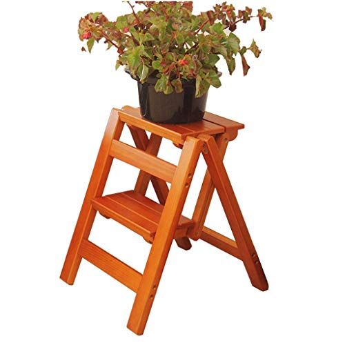 ZHJBD Furniture Stool Opvouwbare ladder voor de tuin, voor buiten, balkon, kruk, bedframe, stepper / plant, geen montage nodig