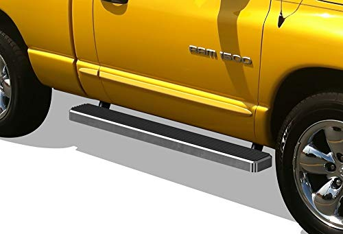 APS iBoard Running Boards (Nerf Bars Side Steps Step Bars) Compatible with 2002-2008 Dodge Ram 1500 Regular Cab & 2003-2009 Ram 2500 3500 (Exclude Daytona Rumble Bee and SRT-10 Models) (Silver 5in)