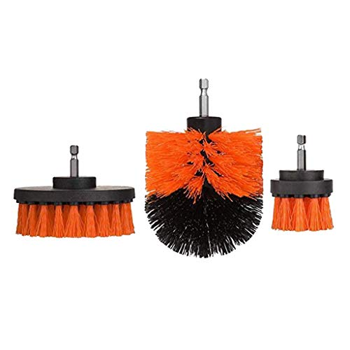 Best Price homozy 3 X Nylon Drill Scrub Brush Set Fits for Cleaning Bathroom & Kitchen Surface