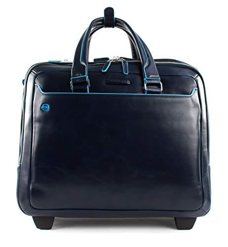 Piquadro Blue Square Wheeled Computer Briefcase Blu Notte