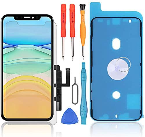LL TRADER Pantalla para iPhone 11, Reemplazo de Retina LCD Táctil Display Digitalizador con Herramientas de Reparación