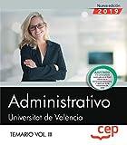 Administrativo. Universitat de València. Temario. Vol.III: 3