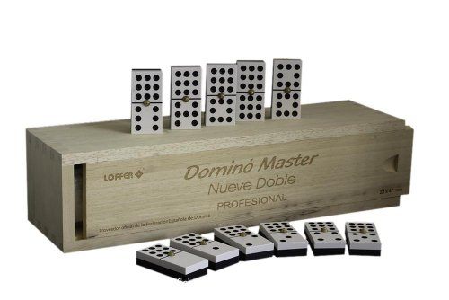 Loffer - Dominó Profesional Master 9 Doble, Caja de Madera (Domarch A354M)