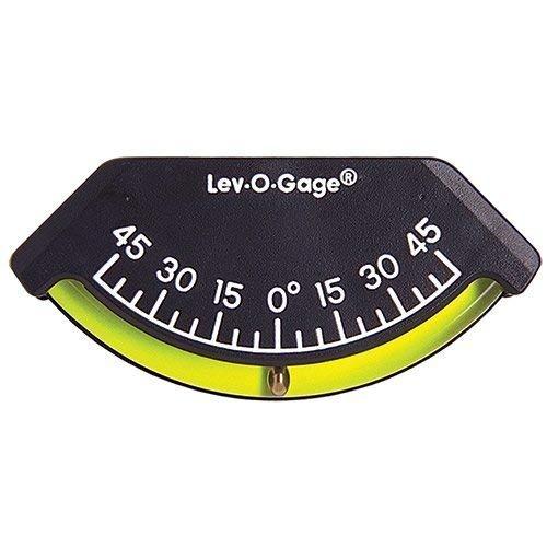 Sun Company Lev-o-gage Heel-Angle Sailing Clinometer (Marine Model) | Mounts on Bulkhead of Boat