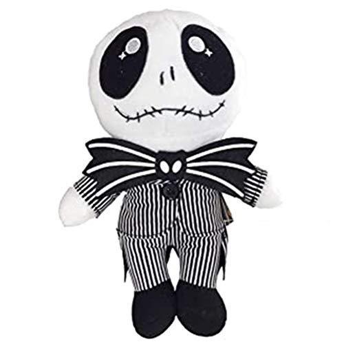 Naduew Christmas Cute Skeleton Plush Doll, 25cm Pesadilla Antes de Navidad Peluche de Peluche Muñecos de Peluche Lovely Baby Holloween Dolls Jack Skellington - Pumpkin King