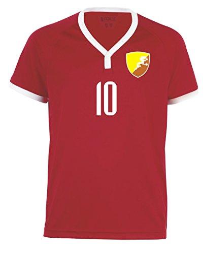 Aprom-Sports Bhutan Kinder Trikot - Hose Stutzen inkl. Druck Wunschname + Nr. RRR WM 2018 (140)