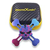 DoDoMagxanadu Skull Hand Fidget Spinner Metal Spinner Toy Focusing Fidget Toys Relievers Stress and Anxiety for Kids & Adults with ADHD Autism(Colourful)