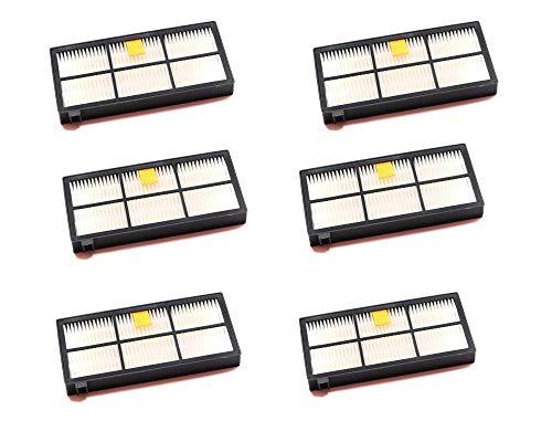 Pack de 6 Filtros de recambio compatibles con Aspiradora iRtobot Roomba Series 800/900, Repuestos de calidad - Anakel Home