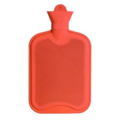 Drizzle Bouillotte Bouteille en caoutchouc classique opaque de qualité supérieure,soulagement de la douleur d'eau chaude pour des nuits douillettes Soulagement douleur dos et aux épaules 2L(RED)