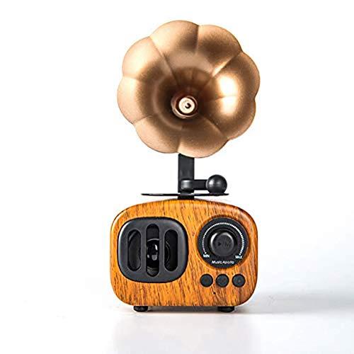 Indoor Bluetooth-Lautsprecher, Retro beweglicher Haupt Lautsprecher mit lauter HD Audio Bass-Stereo-Lautsprecher, 100 Feet Wireless Range LIUH