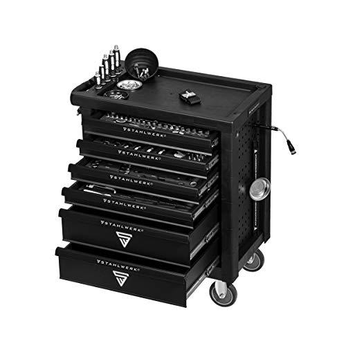 STAHLWERK Werkstattwagen Chrom Vanadium W-64 ST Werkzeugwagen Werkzeugkoffer Montagewagen mit 6...
