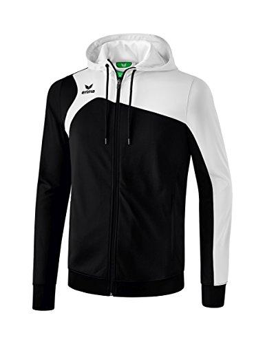 erima Kinder Trainingsjacke Mit Kapuze Club 1900 2.0 Trainingsjacke mit Kapuze, schwarz/weiß, 164, 1070703