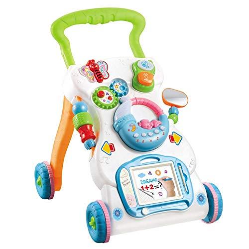 Kleinkind Walker Spielzeug abnehmbare Spielfeld Baby-Walker Activity Center mit Musik-Licht-Minimobil Sketchpad Sit-to-Ständer Learning Walker Schubkarren Kinder-Spielzeug-Auto for Jungen-Mädchen-Bild