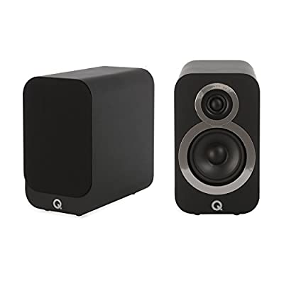 Q Acoustics 3010i Compact Bookshelf Speakers (Pair) (Carbon Black) by Q Acoustics