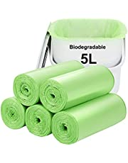 Biodegradable Trash Bags 120PCS, Aievrgad 2.6Gallon/10L Small Garbage Bags/for Countertop Bin. Bin Liner/Trash/Rubbish Bags, 100% Recycled,Tough, degradable, Compost Bags for Food/Household/Garden