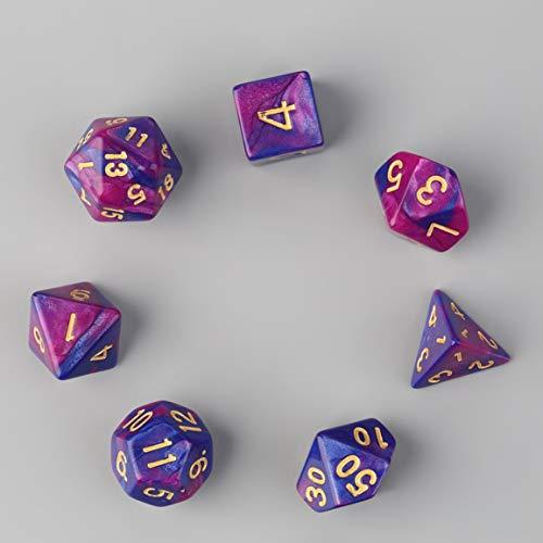 Garciasia 7 piezas Dados de doble color D4 D6 D8 D10 D12 D20 Juego de varios lados Juego...
