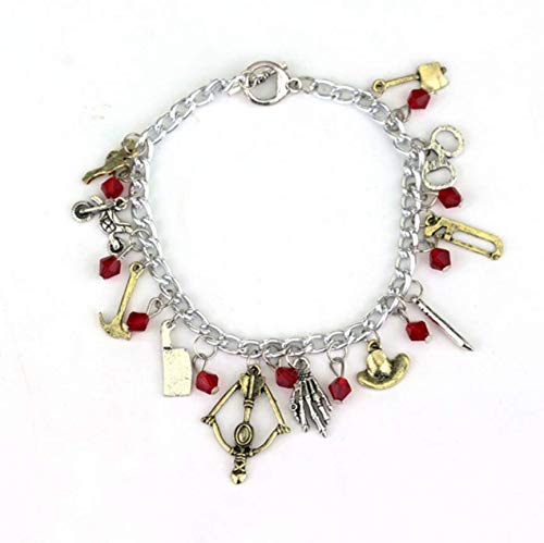GDYX Damenarmband Charm Armband Thema Silber Krawatte Metall Armband Ring des Lebens Gibt Frau Gehen tot