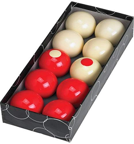 ACTION BBBUMP Bumper Pool Ball Set, 10 Red and White Bumper Pool Balls
