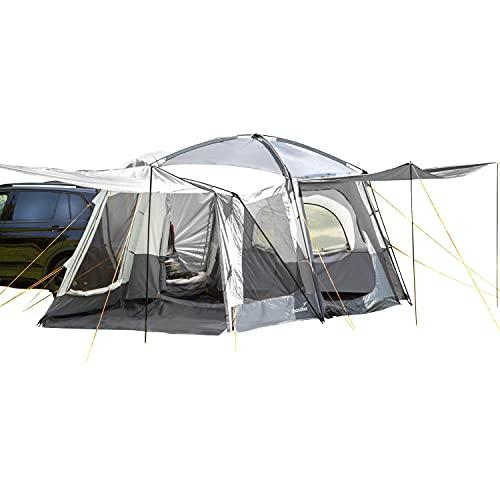 Skandika Pitea XL Cross - Tienda de campaña para Coches para 4 Personas - con Cabina para Dormir - 2,3 m de Altura - Impermeable - 3000 mm de Columna de Agua