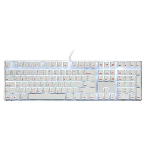 Mechanische Gaming-Tastatur Cherry MX Brown Schalter PBT Keycaps Verdrahtete weiße Hintergrundbeleuchtung 108 Tasten Standard-Layout