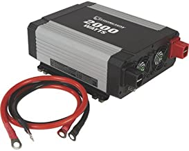 Strongway Modified-Sine Wave Portable Power Inverter with Cables - 2,000 Watts, 3 Outlets/1 USB Port