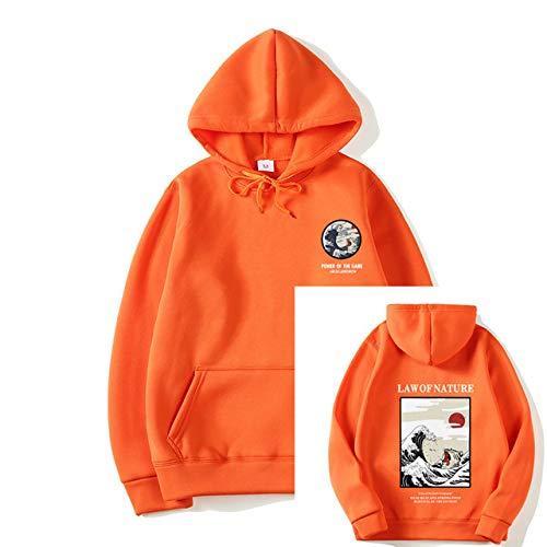 HNOSD Neue Hoodie Hip Hop Street Wear Sweatshirts Skateboard Männer/Frauen Pullover Hoodies Herren Casual Pink Schwarz Grau Blau Hoodies orange 1 XL