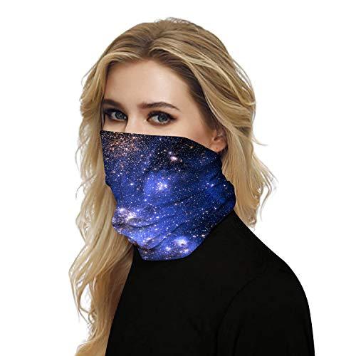 Naadloos gezicht Bandana's Microfiber Sjaal Halsbeenkap met vochtafvoerende stof Bescherm de dames voor vrouwen tegen stof, zon, wind, zand - weerstaat 99,9% ultraviolette stralen,D