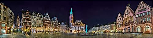 Panorama Acrylglasbild, Frankfurt/Main Frankfurter Römer, Fineart Bild Wandbild, echter Fotoabzug in Galerie Qualität, Acrylglas auf Alu. Dibond©