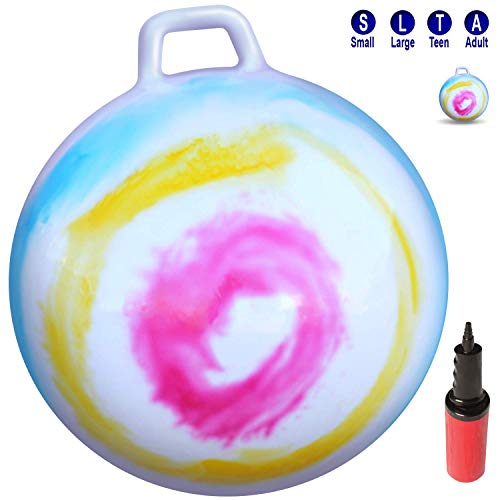 """WALIKI Hop Ball for Kids and Adults   Tie Dye Hopper   Jumping Hopping Ball   Field Day Relay Races (Ages: 3-6 (18""""/45CM))"""