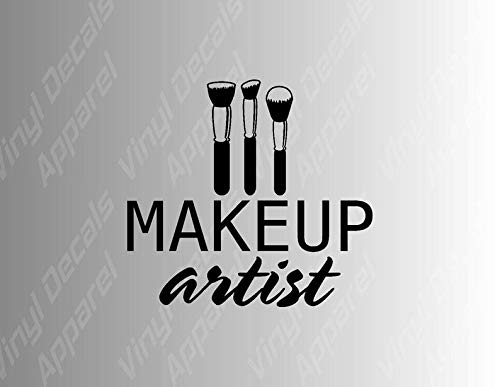 Make-up Artiest sterven Cut Vinyl Decal Sticker voor auto's, tabletten, muren, tumblers en meer. Make-up stickers