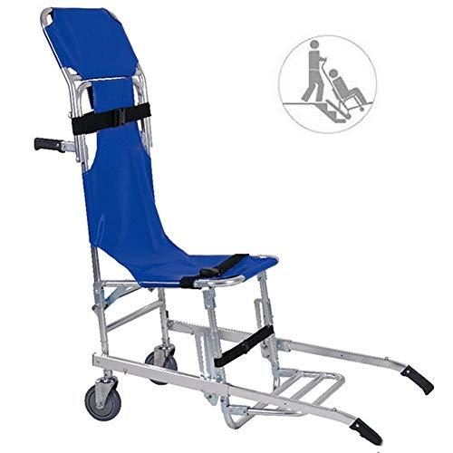 Dbtxwd Treppen-Bahren-Stuhl, zusammenklappbare Treppen-Bahre, Feuerwehrmann-Evakuierungs-schneller Transport-Patientenstuhl