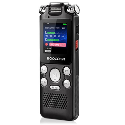 Voice Recorder - 8GB Audio Sound Recorder - Portable Rechargeable...