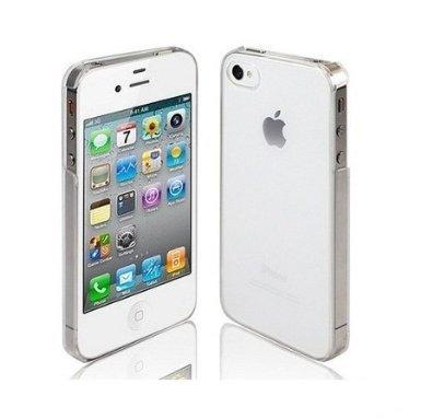 itronik Hülle kompatibel mit iPhone 4 4S ORIGINAL Premium Hardcase - Klar/Transparent (iPhone 4 4S Hülle - iPhone 4 4S Schutzhülle - iPhone 4 4S Hülle)