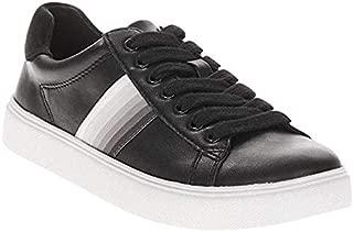 EV1 from Ellen DeGeneres Women's Cupsole Lace Up Trainer Shoe (Black, 8.5M, 9M