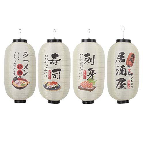 JNN Linterna Colgante Japonesa de 10 Pulgadas, linternas de Festival a Prueba de Agua, a Prueba de Agua, para linternas Festivas para Interiores y Exteriores